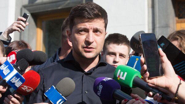 Ukrajinský prezident Volodymyr Zelenský - Sputnik Česká republika