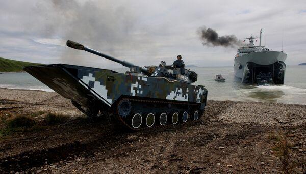 Rusko-čínská vojenská cvičení Námořní součinnost 2015 - Sputnik Česká republika