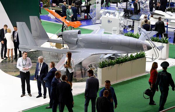 Bezpilotní letecký systém na mezinárodní výstavě zbraní a vojenské techniky MILEX-2019 v Minsku - Sputnik Česká republika