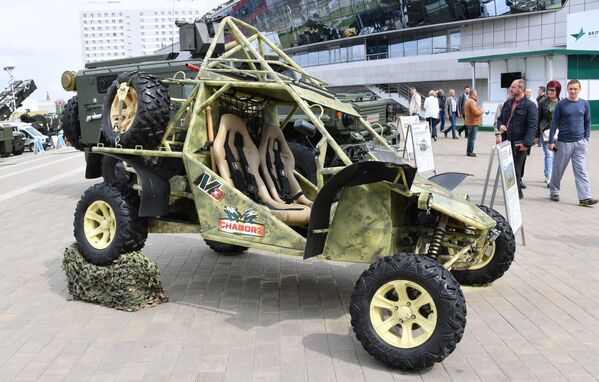 Buggy Čabroz M-3 na mezinárodní výstavě zbraní a vojenské techniky MILEX-2019 v Minsku - Sputnik Česká republika