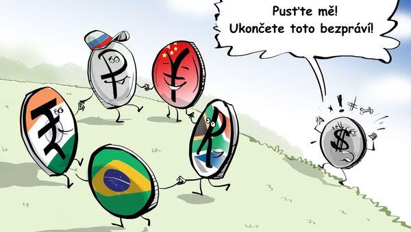 Platby mezi státy BRICS v národních měnách podkopávají pozice dolarů - Sputnik Česká republika
