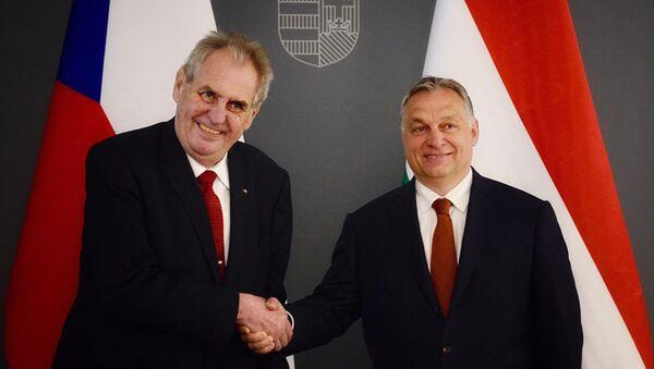 Miloš Zeman a Viktor Orbán - Sputnik Česká republika