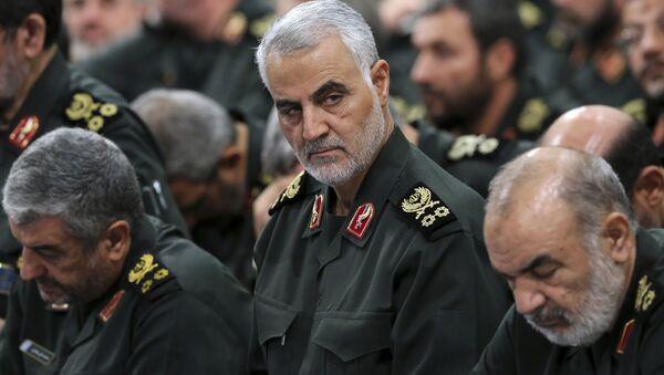 Velitel elitních íránských jednotek Kuds Kásim Sulejmaní - Sputnik Česká republika