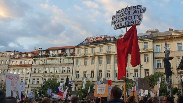 Demonstrace proti ministryni spravedlnosti Marii Benešové - Sputnik Česká republika