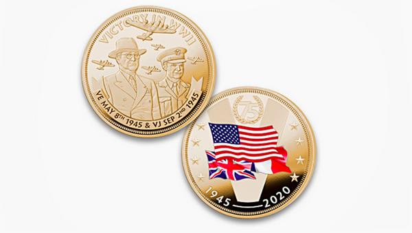 Upomínková mince k 75. výročí ukončení 2. světové války - Sputnik Česká republika