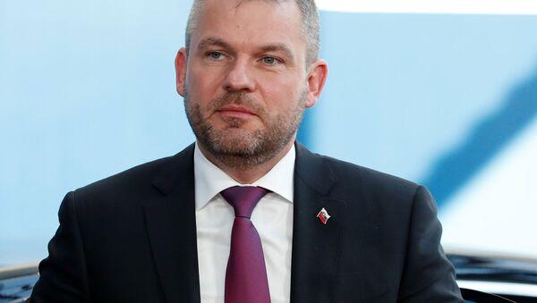 Slovenský předseda vlády Peter Pellegrini - Sputnik Česká republika