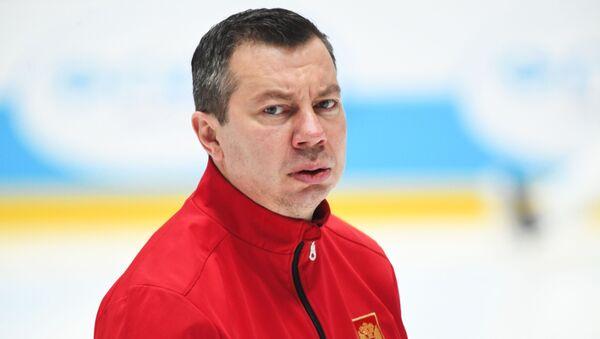 Hlavní trenér ruského hokejového mužstva Ilja Vorobjov  - Sputnik Česká republika